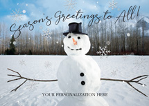 Mr. Frosty Holiday Greeting Cards